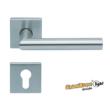Scoop Thema 1106 SBL rozsdamentes acél négyzetrozettás kilincsgarnitúra PZ