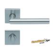 Scoop Thema 1106 SBL rozsdamentes acél négyzetrozettás kilincsgarnitúra WC