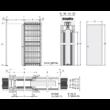 Eclisse Unico egyszárnyú falban futó tolóajtó tokszerkezet tokborítást igénylő modell - vakolható falhoz 600x2100 mm / 125 mm