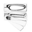 DND Intake-Z négyzetrozettás fényes króm kilincsgarnitúra