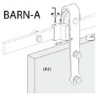 Made In Italy Barn-A pajta ajtó vasalat fal előtt futó tolóajtóhoz 2 m sín 14.100