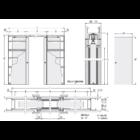 Eclisse Estensione kétszárnyú falban futó tolóajtó tokszerkezet tokborítást igénylő modell - gipszkarton falhoz 600+600x2100 mm 100/125 falvastagság