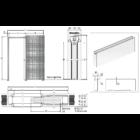 Eclisse Syntesis Line egyszárnyú falban futó tolóajtó tokszerkezet tokborítás nélküli modell - vakolható falhoz 600x2100 mm/125 mm