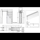Eclisse Syntesis Line egyszárnyú falban futó tolóajtó tokszerkezet tokborítás nélküli modell - gipszkarton falhoz 600x2100 mm 100 falvastagság