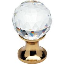 Linea Cali Crystal aranyozott bútor fogantyú 20 mm ∅ 200 PB 0020