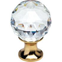 Linea Cali Crystal aranyozott bútor fogantyú 40 mm ∅ 200 PB 0040