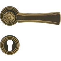 Linea Cali Dafne matt bronz körrozettás kilincsgarnitúra 1070 RB 112