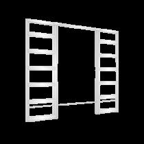 Eclisse Syntesis Line - Estensione kétszárnyú falban futó tolóajtó tokszerkezet tokborítás nélküli modell - gipszkarton falhoz 600+600x2100 mm 125 falvastagság