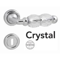 Linea Cali Crystal fényes króm körrozettás kilincsgarnitúra