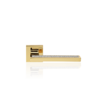 Linea Cali Sintesi Mesh aranyozott négyzetrozettás kilincsgarnitúra