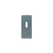 Maestro szögletes biztonsági pajzs cilindervédős rozsdamentes acél 30x70 mm, 15 mm vastag
