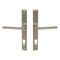 Maestro Mantova biztonsági bejárati ajtó kilincsgarnitúra szatén nikkel kilincs kilincs