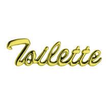Maestro Toilette felirat fényes réz