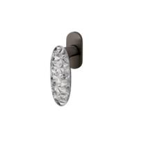 Olivari Crystal Diamond szuperantracit - üveg ablakfélkilincs