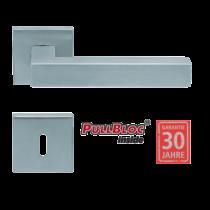 Scoop 1002 PB inox négyzetrozettás kilincsgarnitúra
