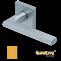 Scoop 1025 SB inox négyzetrozettás kilincsgarnitúra
