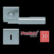 Scoop 1016 Bauhaus PB inox négyzetrozettás kilincsgarnitúra