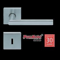 Scoop 1108 Jade I PB inox négyzetrozettás kilincsgarnitúra