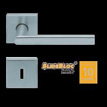 Scoop 1108 Jade I SB inox négyzetrozettás kilincsgarnitúra