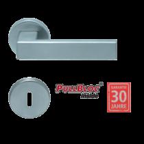 Scoop 1005 Quadra PB inox körrozettás kilincsgarnitúra