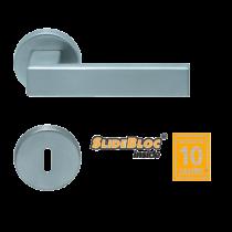 Scoop 1005 Quadra SB inox körrozettás kilincsgarnitúra