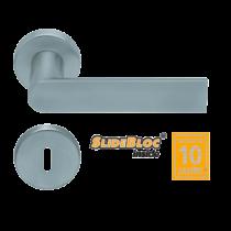 Scoop 1008 Semi SB inox körrozettás kilincsgarnitúra
