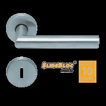 Scoop 1106 Thema SB inox körrozettás kilincsgarnitúra
