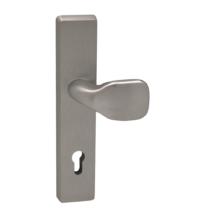 Maestro Rio 2 alu F8 biztonsági bejárati ajtó gomb-kilincs garnitúra