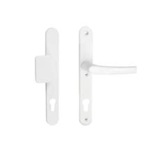 Maestro Mistral porszórt fehér biztonsági bejárati ajtó gomb-kilincs garnitúra