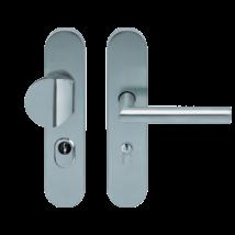 Scoop inox bejárati biztonsági thema cilindervédős gomb-kilincs garnitúra