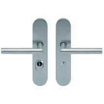 Scoop inox bejárati biztonsági thema cilindervédős kilincsgarnitúra