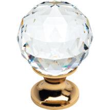 Linea Cali Crystal aranyozott bútor fogantyú 30 mm ∅ 200 PB 0030