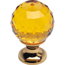 Linea Cali Crystal aranyozott bútor fogantyú topáz színű kristállyal 30 mm ∅ 200 PB 0030