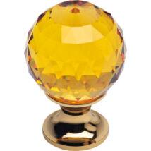 Linea Cali Crystal aranyozott bútor fogantyú topáz színű kristállyal 40 mm ∅ 200 PB 0040
