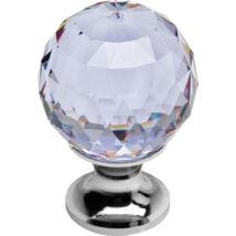 Linea Cali Crystal fényes króm bútor fogantyú ibolya színű kristállyal 30 mm ∅ 200 PB 0030