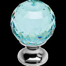Linea Cali Crystal fényes króm bútor fogantyú antik zöld kristállyal 20 mm ∅ 200 PB 0020
