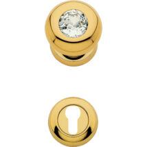 Linea Cali Elika Crystal aranyozott gomb kilincsgarnitúra körrozettával 991 PG 108