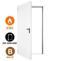FORM EI90 acél tűzgátló ajtó DIN 1000x2000 (balos nyitásirány)
