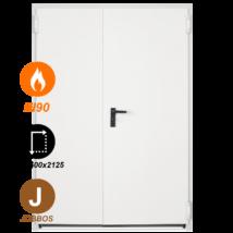 FORM EI90 kétszárnyú acél tűzgátló ajtó DIN 1500x2125 (jobbos nyitásirány)