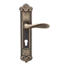 DND Fiore szatén bronz hosszúcímes kilincsgarnitúra