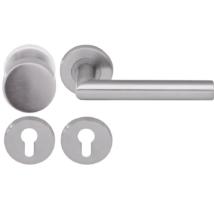 Dorma Pure 8906 / 8mm / 3020N / 6501 / 6612 PZ rozsdamentes acél körrozettás gomb-kilincsgarnitúra