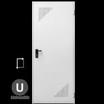 NINZ Rever Multifunkciós papírrácsbetétes acélajtó alul-felül perforált szellőzővel 900x2100 mm (univerzális nyitásirány)