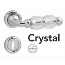 Linea Cali Crystal fényes króm körrozettás kilincsgarnitúra 830 RB 103