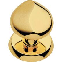 Linea Cali Delfino fényes arany / matt arany fix gomb garnitúra körrozettával 955 PT