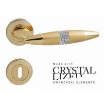 Linea Cali Havana Mesh Crystal körrozettás kilincsgarnitúra