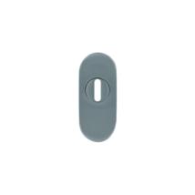Maestro ovál biztonsági pajzs cilindervédős rozsdamentes acél 30x70 mm, 15 mm vastag