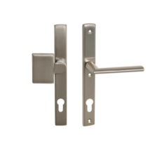 Maestro Mantova biztonsági bejárati ajtó kilincsgarnitúra szatén nikkel gomb kilincs