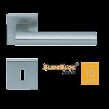 Scoop 1011 SB inox négyzetrozettás kilincsgarnitúra