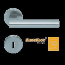 Scoop 1011 SB inox körrozettás kilincsgarnitúra