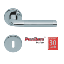 Scoop 1101 Duo polírozott inox kilincsgarnitúra PullBloc mechanikával